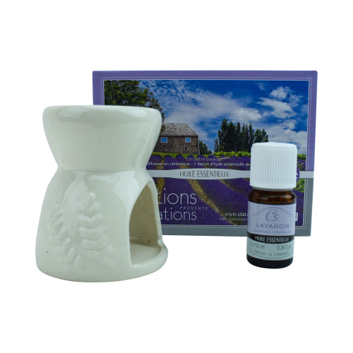 Ceramic diffuser and 1 vial of Lavandin essential oil