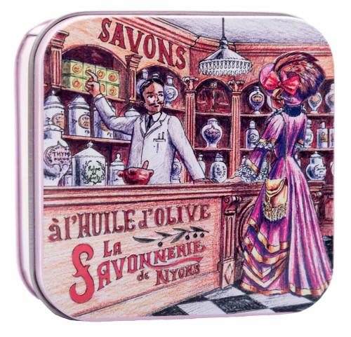 La Savonnerie de Nyons Metal Box Pharmacy Verbena 100g/3.52 oz