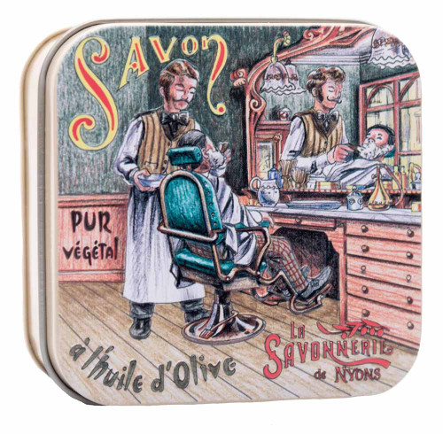 La Savonnerie de Nyons Metal Box The barber 100g/3.5 oz