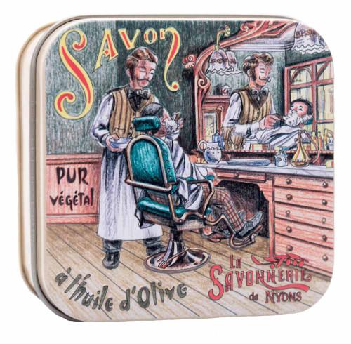 La Savonnerie de Nyons Metal Box The barber 100g/3.5 oz