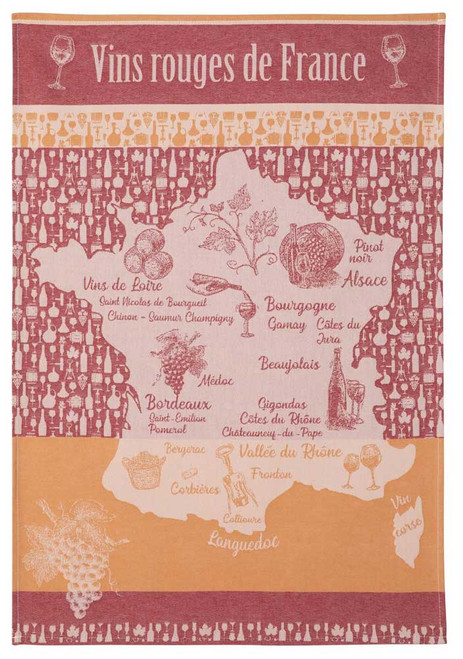 Coucke Kitchen Towel the Red Wine Route