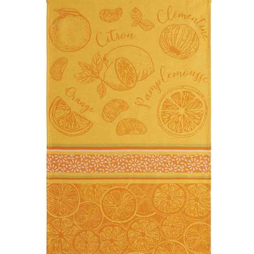 Coucke Jacquard Kitchen Towel Citrus fruits