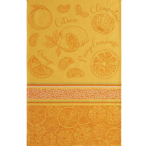 Coucke Jacquard Kitchen Towel Citrus fruits