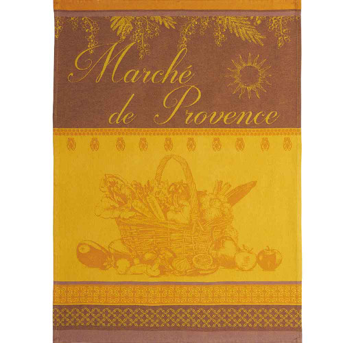 Coucke Jacquard Kitchen Towel Provence market