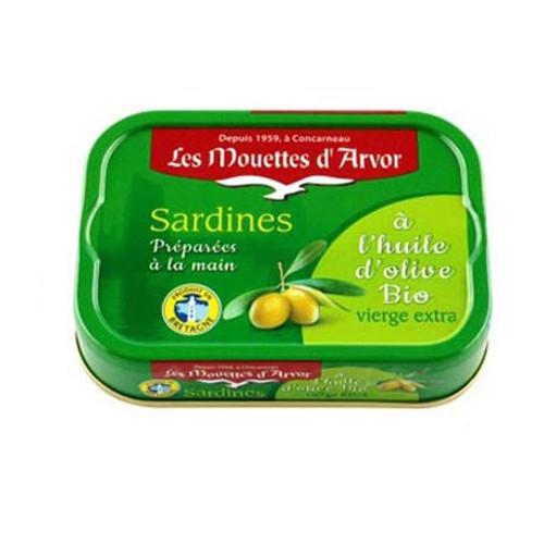 Les Mouettes d'Arvor Sardines MSC* in organic extra virgin olive oil