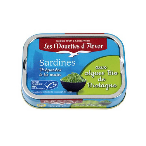 Les Mouettes d'Arvor Sardines MSC*with organic Brittany seaweed