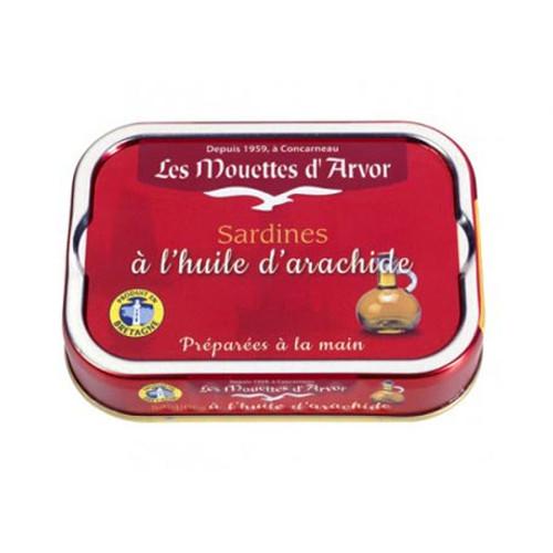 Les Mouettes d'Arvor Sardines in Peanut Oil