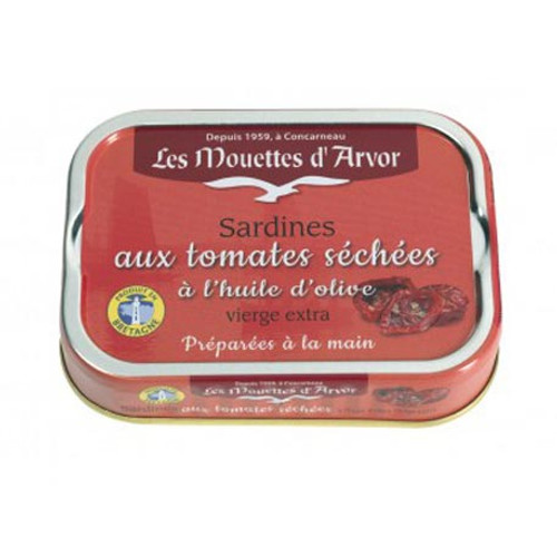 Les Mouettes d'Arvor Sardines in extra virgin olive oil and sundried tomato sauce