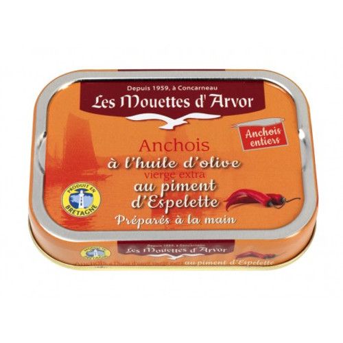 Les Mouettes d'Arvor Anchovies in extra virgin oil and Espelette pepper