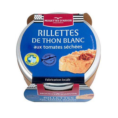 Les Mouettes d'Arvor white tuna and sundried tomatoes rillette spread