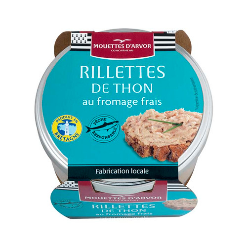 Les Mouettes d'Arvor Tuna rillette spread with cream cheese