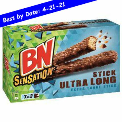 BN Sensation Stick Ultra Long Biscuits Chocolate Crisped Rice 0.46lb