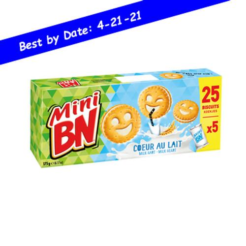 BN French Mini Heart of Milk 5 packs of 5 cookies 0.38lb