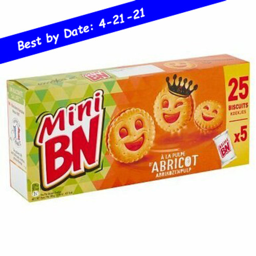 BN French Mini Apricot Pulp 5 packs of 5 cookies 0.38lb