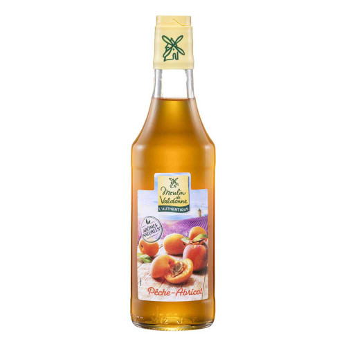 Moulin de Valdonne French syrup Peach Apricot 50cl/ 16.9 oz