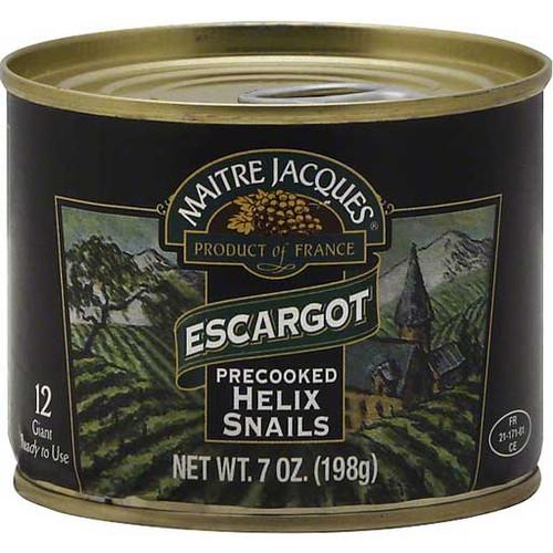 Maitre Jacques 12 Precooked Giant Helix Snails