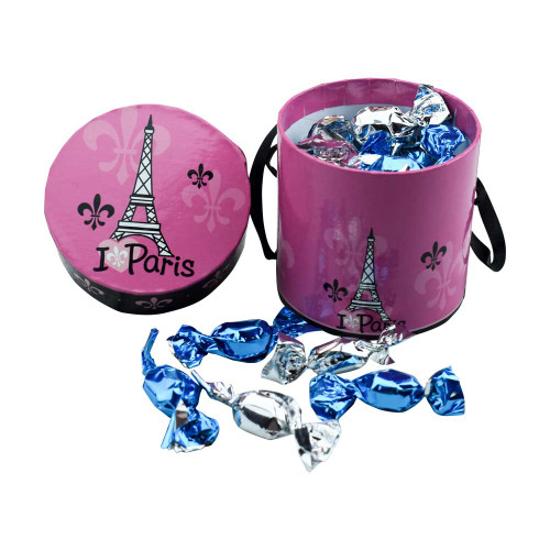 Le Panier Francais Round Pink Paris Box Organic Mini Mint 3.17oz