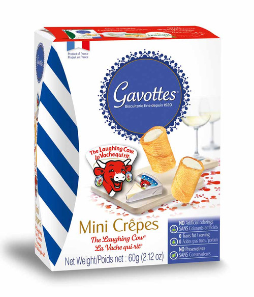 Gavottes Mini Crepes Filled with The Laughing Cow filling preparation 2.12 oz (60g)
