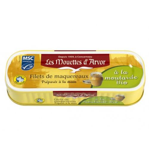 Les Mouettes d'Arvor Mackerel MSC* fillets in organic creamy mustard sauce