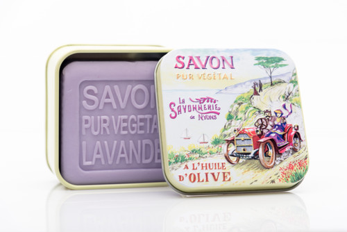 La Savonnerie de Nyons Metal Box The Ride Lavender Soap 100g/3.51 oz