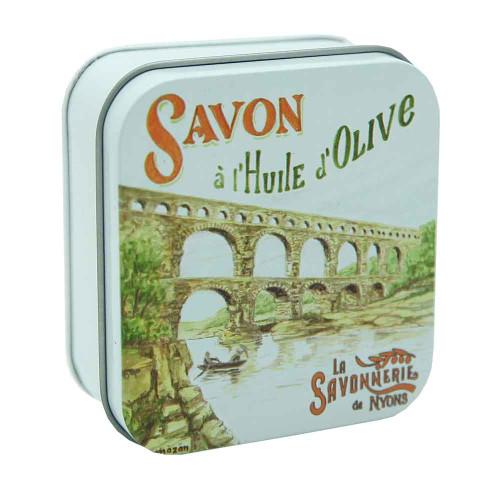 La Savonnerie de Nyons Metal Box Le Gard Bridge 100g/ 3.5 oz