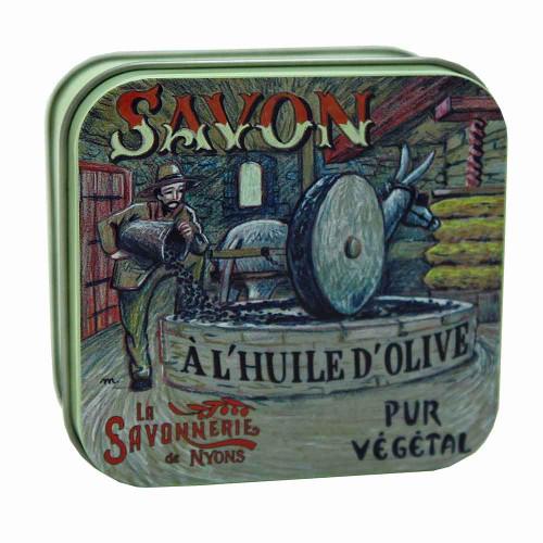La Savonnerie de Nyons Metal Box Oil Mill 100g/ 3.5 oz