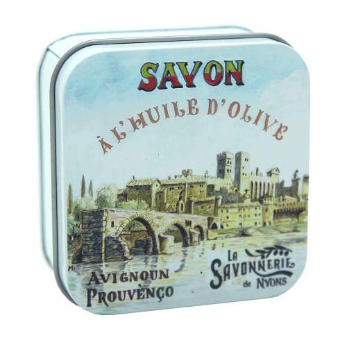 La Savonnerie de Nyons Metal Box The Avignon Bridge 100g/ 3.5 oz