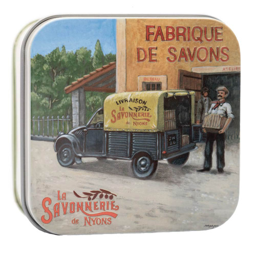 La Savonnerie de Nyons Metal Box The Van Cotton Flower Soap 100g/3.51 oz