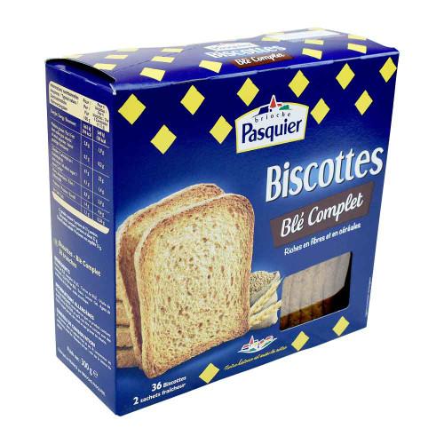 Brioche Pasquier Complete Wheat Biscottes 300g/10.6oz