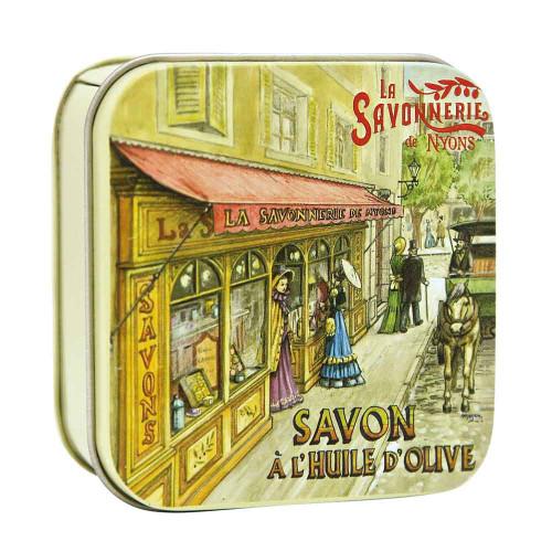 La Savonnerie de Nyons Metal Box Vintage Shop 100 g/3.52oz