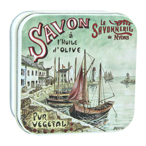 La Savonnerie de Nyons Metal Box The Port 100g/ 3.52 oz