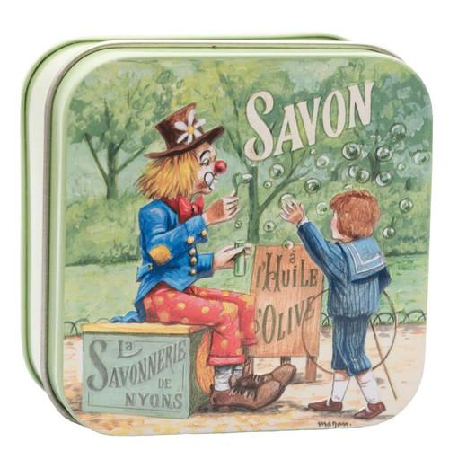 La Savonnerie de Nyons Metal Box Child and Clown 100g/ 3.5 oz