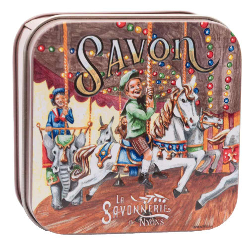La Savonnerie de Nyons Metal Box Child and Caroussel 100g/ 3.5 oz