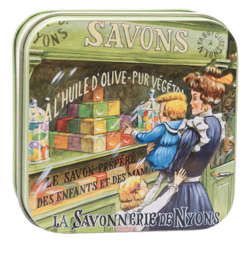 La Savonnerie de Nyons Metal Box Mother and Child 100g/ 3.5 oz