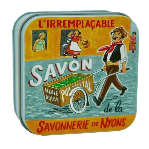 La Savonnerie de Nyons Metal Box Vintage Ad Soap Handcart Merchant  100g/ 3.52oz