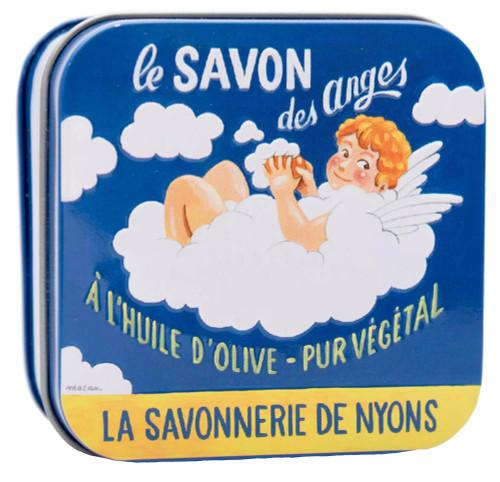 La Savonnerie de Nyons Metal Box Angel Vintage ad 100g/ 3.52 oz