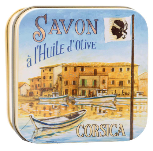 La Savonnerie de Nyons Metal Box Corsica the Port Verbena 100g/3.52 oz