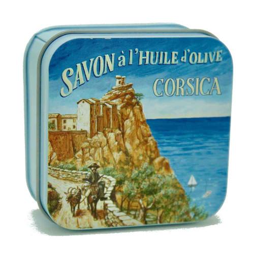 La Savonnerie de Nyons Metal Box Corsica Village  Verbena 100g/3.52 oz