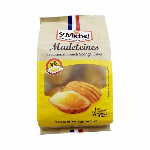 St Michel Classic Madeleines, 6-count, 150 g/5.29oz