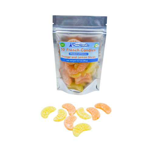 Le Panier Francais Organic Orange Lemon Slices Hard Candy 90g/3.17ozz