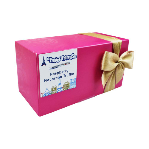 Le Panier Francais French Chocolate Truffles with Raspberry Macaroon Pieces 200g/7 oz