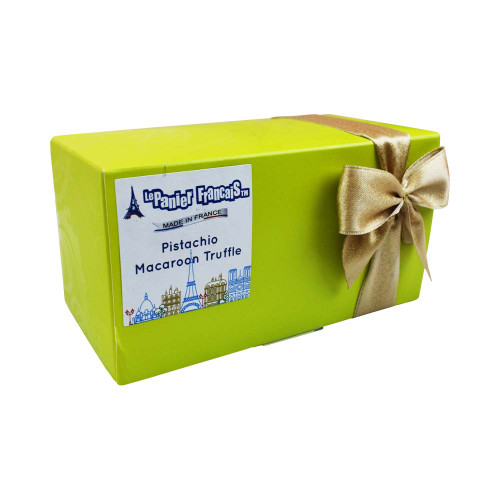 Le Panier Francais French Chocolate Truffles with Pistachio Macaroon Pieces 200g/7 oz