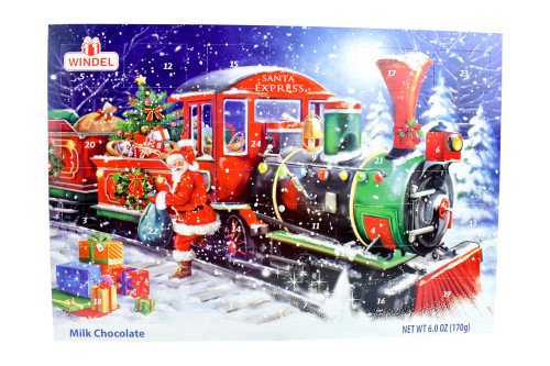 Windel Santa's Rail Stop Jumbo Advent Calendar 170g/6oz