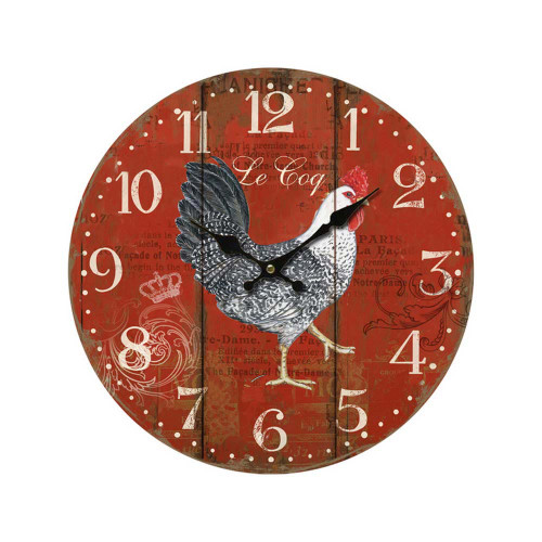 Clock Rooster 11 inch