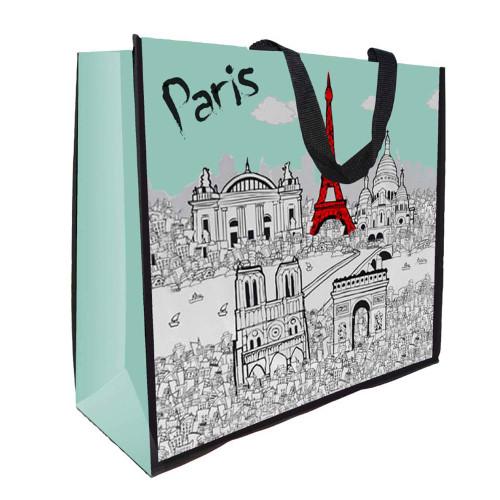 Grocery Bag Paris Monuments