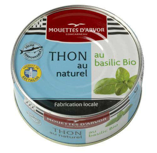 Les Mouettes d'Arvor Skipjack Tuna in Brine with Organic Basil 160g/5.3oz