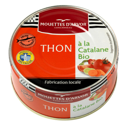 Les Mouettes d'Arvor Skipjack Tuna in Organic Catalan Sauce 160g/5.3oz