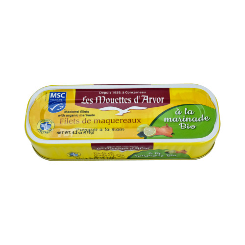 Les Mouettes d'Arvor Mackerel MSC* fillets with Organic Marinade