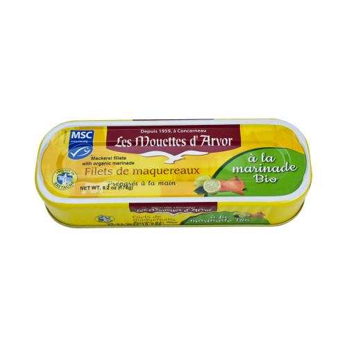 Les Mouettes d'Arvor Mackerel MSC* fillets with Organic Marinade