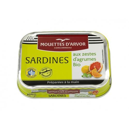Les Mouettes d'Arvor Sardines Organic citrus fruits